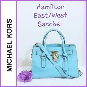 💯 Authentic Michael Kors E/W Satchel 30S3SHMS3L